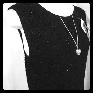 Michelle Nicole Black bead sleeveless sweater NEW